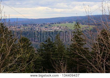 Outlook To The Town Of Rotensol, Black Forest, Baden-wurttemberg, Germany
