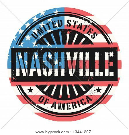 Grunge rubber stamp with the text United States of America, Nashville, vector illustration