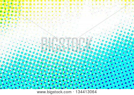 Yellow and blue half tone pattern abstract background