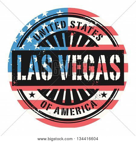 Grunge rubber stamp with the text United States of America, Las Vegas, vector illustration