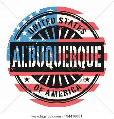Grunge rubber stamp with the text United States of America, Albuquerque, vector illustration