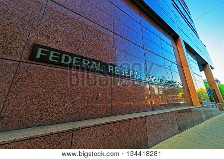 Philadelphia USA - May 4 2015: Federal Reserve Bank of Philadelphia Pennsylvania the USA