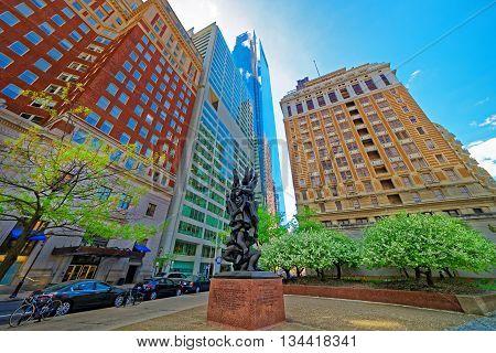 Holocaust Sculpture On Benjamin Franklin Parkway In Philadelphia Pa