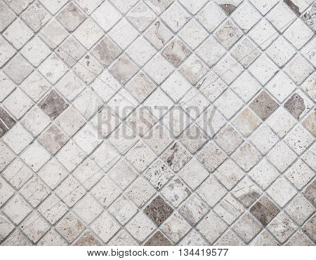 Abstract marble textured mosaic tiles in sepia tone