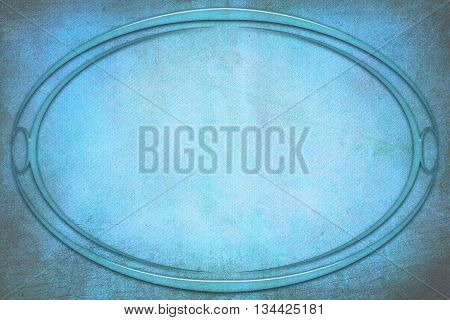 Modern Oval Frame On Background With Texture