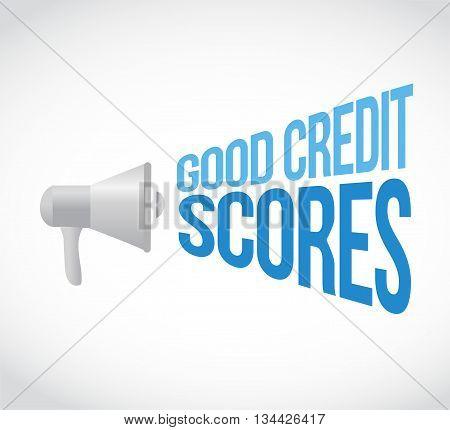 Good Credit Scores Megaphone Message