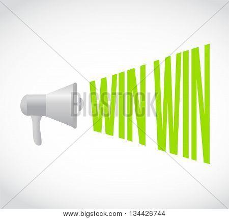 Win Win Megaphone Message