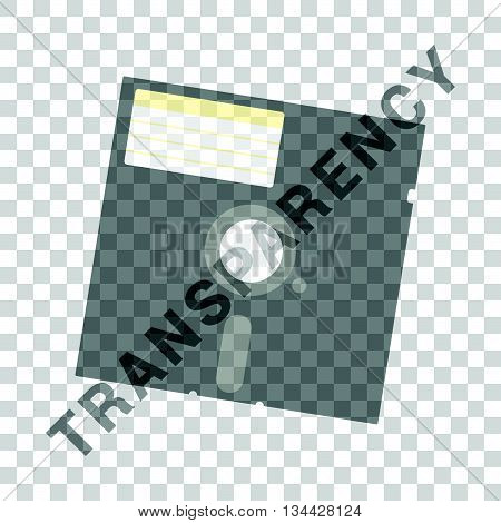 floppy disk icon illustration in colorful on white