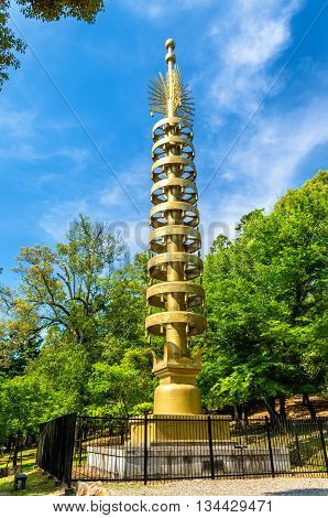 Sorin, a vertical shaft finial of a pagoda - Todai-ji Temple, Nara, Japan
