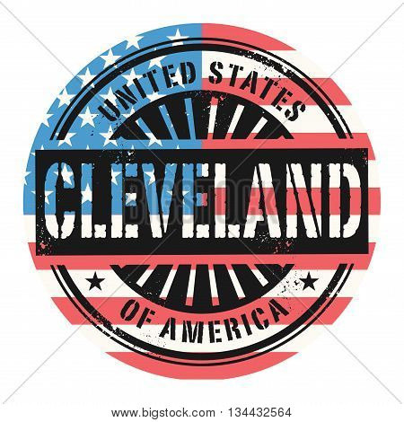 Grunge rubber stamp with the text United States of America, Cleveland, vector illustration