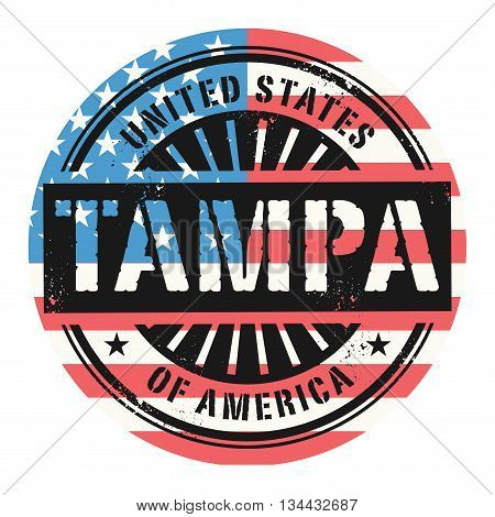 Grunge rubber stamp with the text United States of America, Tampa, vector illustration