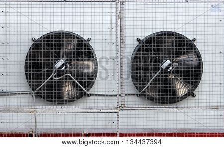 two air ventilation systems on the wall