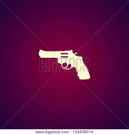 Revolver Icon. Vector Concept Illustration For Design