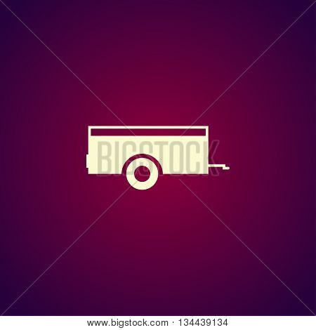 Car Trailer Icon. Vector Concept Illustration For Design