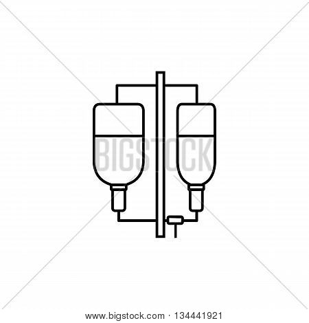 Intravenous infusion icon in outline style isolated on white background