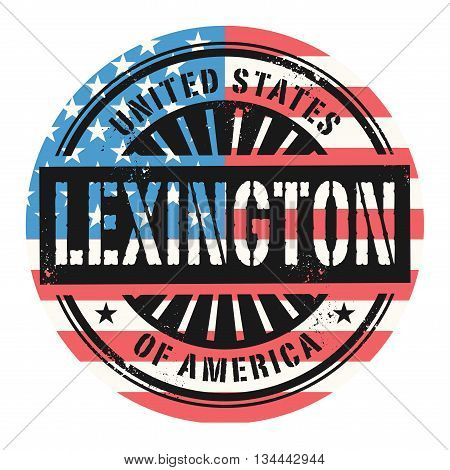 Grunge rubber stamp with the text United States of America, Lexington, vector illustration