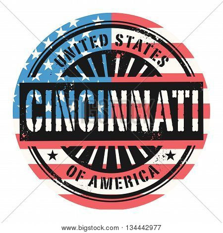 Grunge rubber stamp with the text United States of America, Cincinnati, vector illustration
