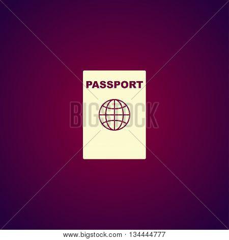 Passport Icon. Vector Concept Illustration For Design