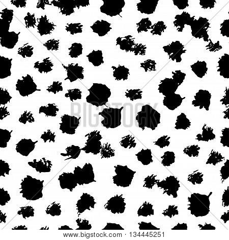 Seamless pattern created from the blots and blemishes. Vector illustration.