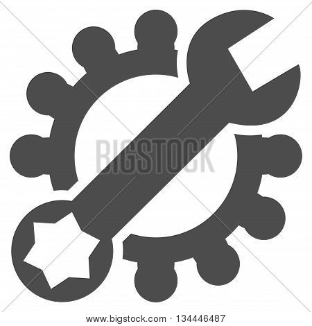 System Setup vector icon. Style is flat icon symbol, gray color, white background.