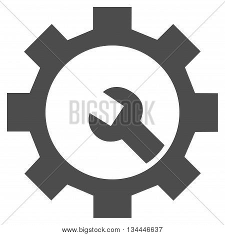 Configuration Tools vector icon. Style is flat icon symbol, gray color, white background.