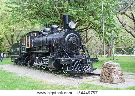 Light Steam Engine In Newhalem, Washington Near  Seattle