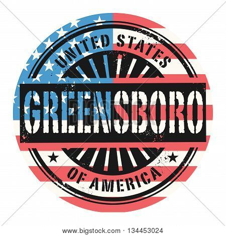 Grunge rubber stamp with the text United States of America, Greensboro, vector illustration