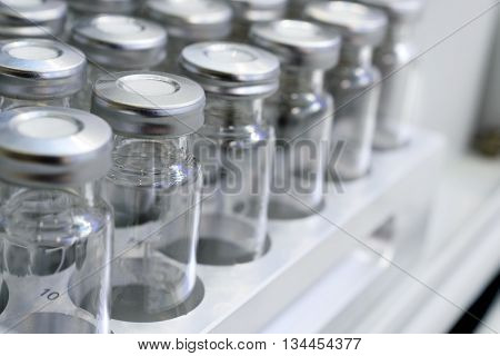 Glass Vials For Liquid Samples.