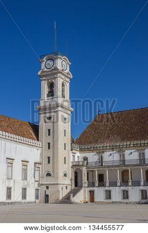 Bell Tower Of The University Of Coimbra