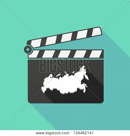 Long Shadow Clapperboard With  A Map Of Russia