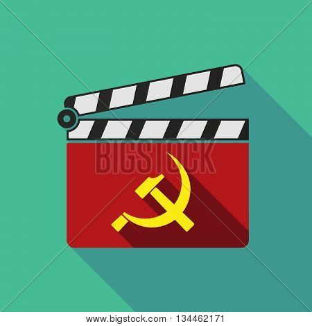 Long Shadow Clapperboard With  The Communist Symbol