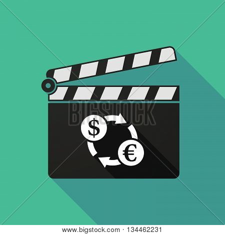 Long Shadow Clapperboard With A Brazillian Real Currency Sign