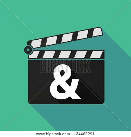 Long Shadow Clapperboard With An Ampersand