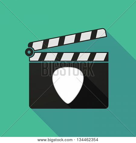 Long Shadow Clapperboard With A Plectrum