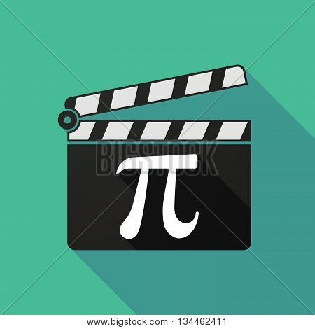 Long Shadow Clapperboard With The Number Pi Symbol