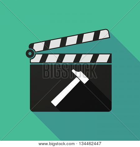 Long Shadow Clapperboard With A Hammer