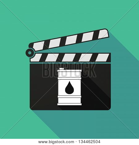 Long Shadow Clapperboard With A Barrel Of Oil