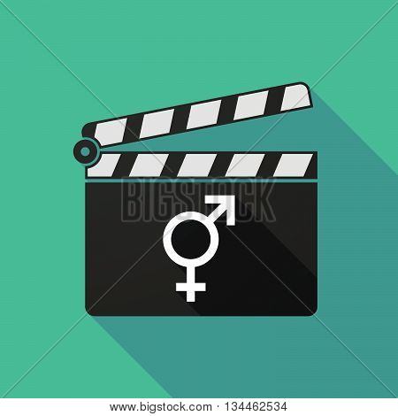 Long Shadow Clapperboard With A Bigender Symbol