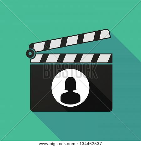 Long Shadow Clapperboard With A Female Avatar