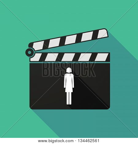 Long Shadow Clapperboard With A Female Pictogram