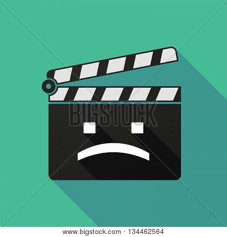 Long Shadow Clapperboard With A Sad Text Face
