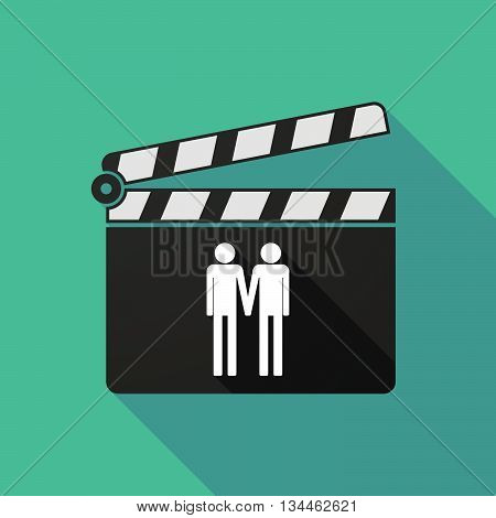 Long Shadow Clapperboard With A Gay Couple Pictogram