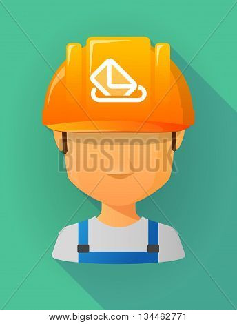 Worker Male Avatar Wearing A Safety Helmet With  A Ballot Box