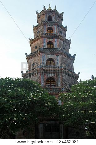 Thien Mu Temple In Hue