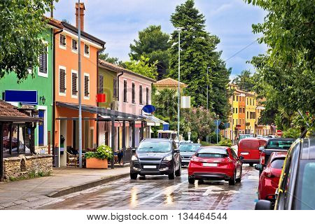 Novigrad Istarski colorful architecture view Istria Croatia