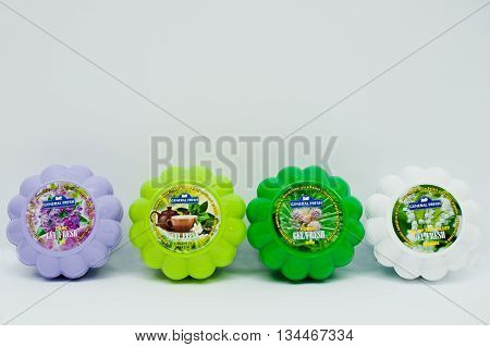 Berezovitsa, Ukraine - Circa June, 2016: Set Of Air Freshener Gel General Fresh Gel Fresh