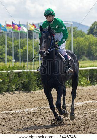 Before horse race in Nalchik,Northern Caucasus, Russia.