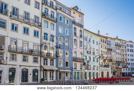COIMBRA, PORTUGAL - APRIL 28, 2016: Praca Comercio in the historical center of Coimbra, Portugal