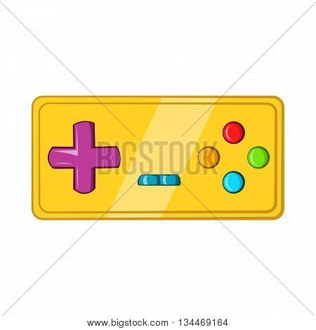 Vintage game joystick icon in cartoon style on a white background