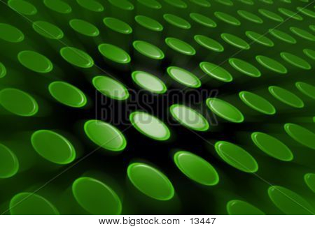 Abstract Green Buttons